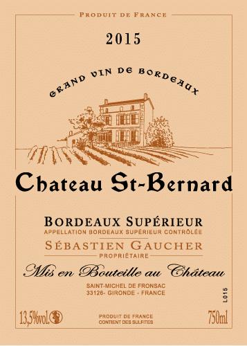 Bordeaux supérieur Château Saint Bernard (33)