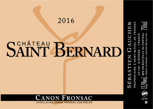 Etiquette Château saint Bernard canon-fronsac