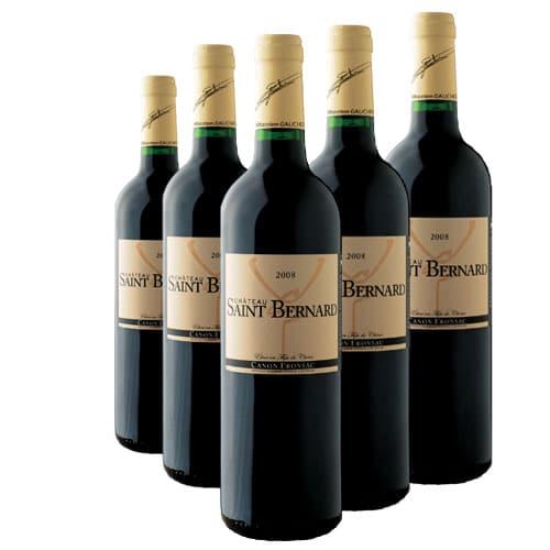 Bouteilles de vin canon-fronsac Château Saint Bernard