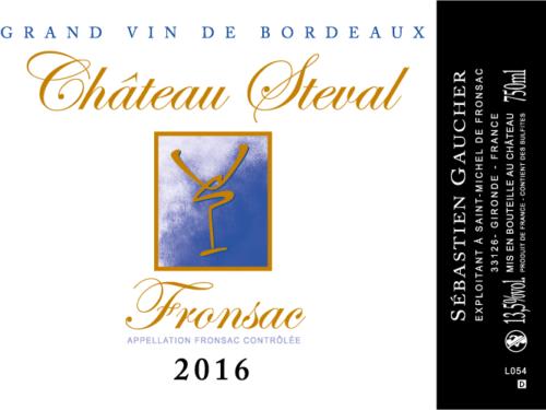 Etiquette Château Steval Fronsac