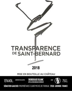 L'élevage sur lies-vin blanc transparence de St Bernard  (33)